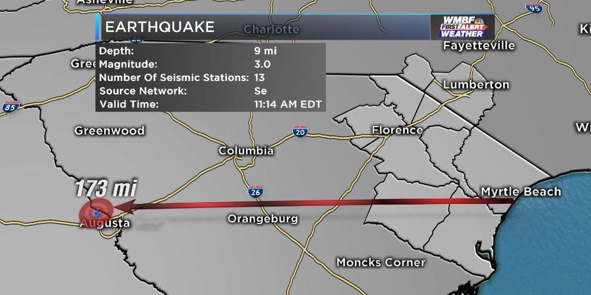 Shaking felt as earthquake hits Augusta Tuesday morning
