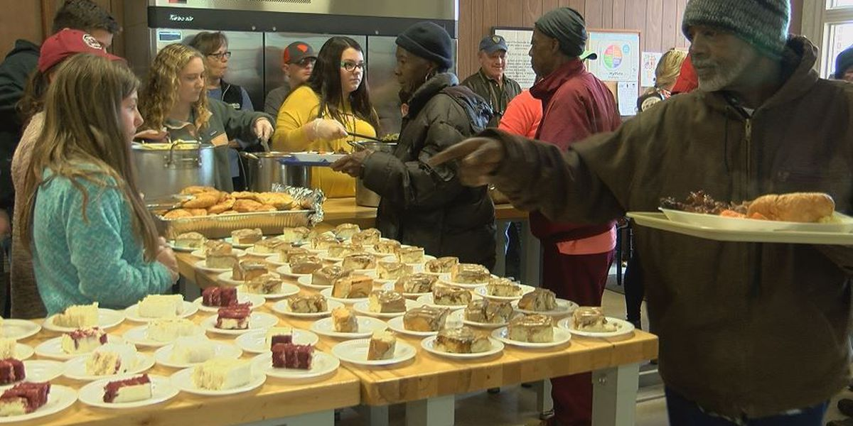 Those in need receive a warm meal on Christmas