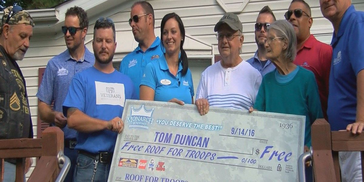 Vietnam veteran receives new roof