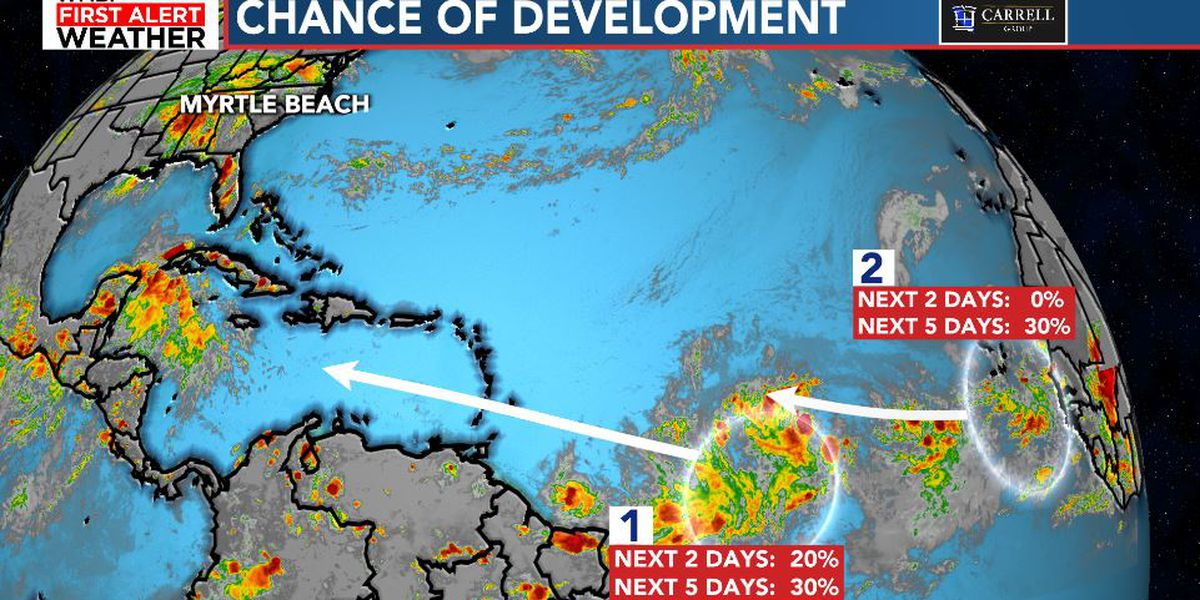 New tropical wave forming as one passes the Eastern Caribbean Sea