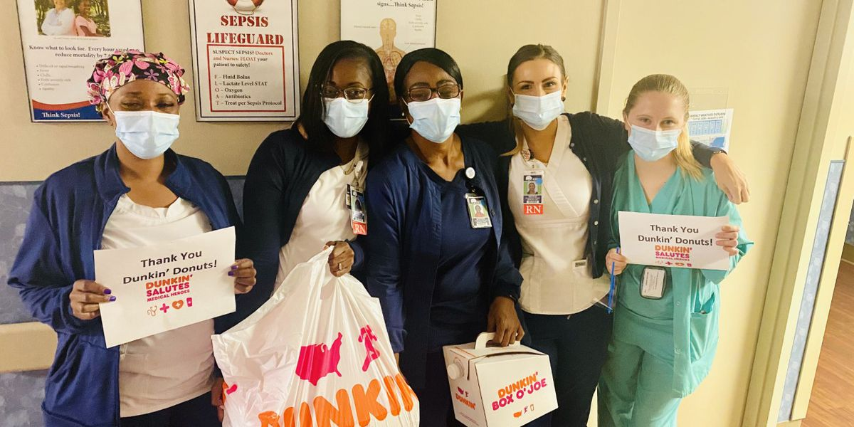 Dunkin' makes special delivery to nurses, doctors at Conway Medical Center