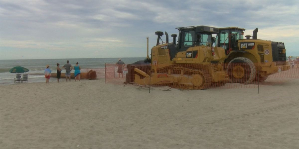 Locals react to beach renourishment project in Surfside Beach