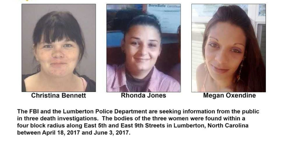 FBI offering up to $30,000 for information related to deaths of three Lumberton women