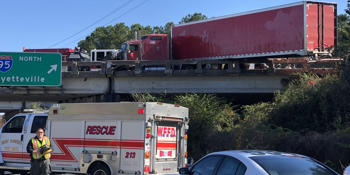 'Serious' 18-wheeler crash kills 3, shuts down parts of I-95 and Hwy 76 near Timmonsville