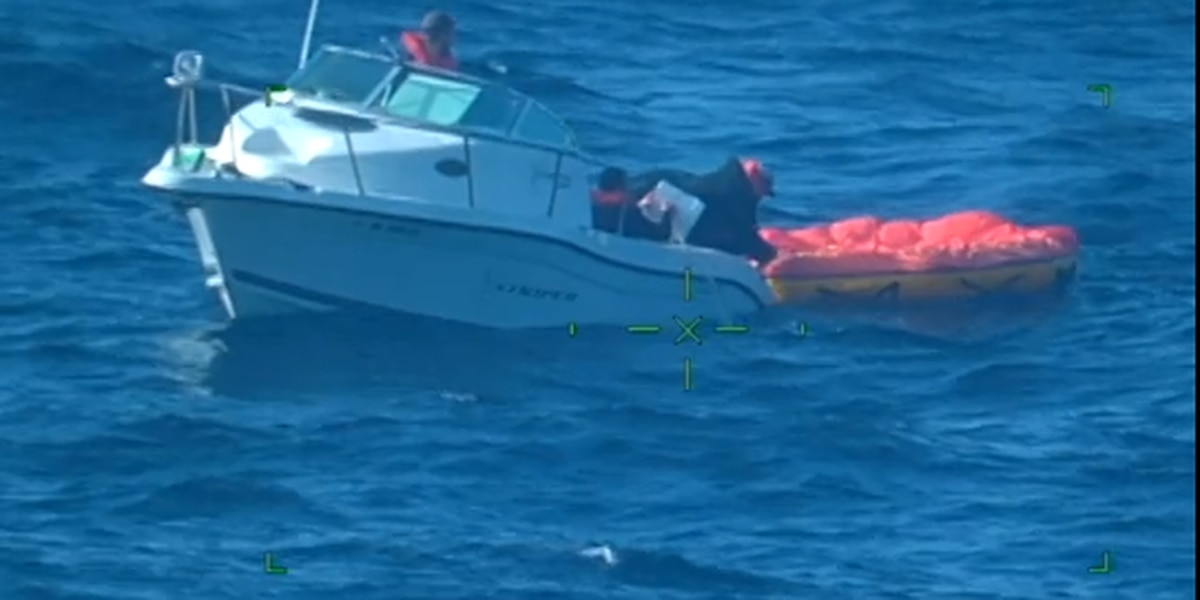 USCG rescue 3 from sinking vessel off NC coast