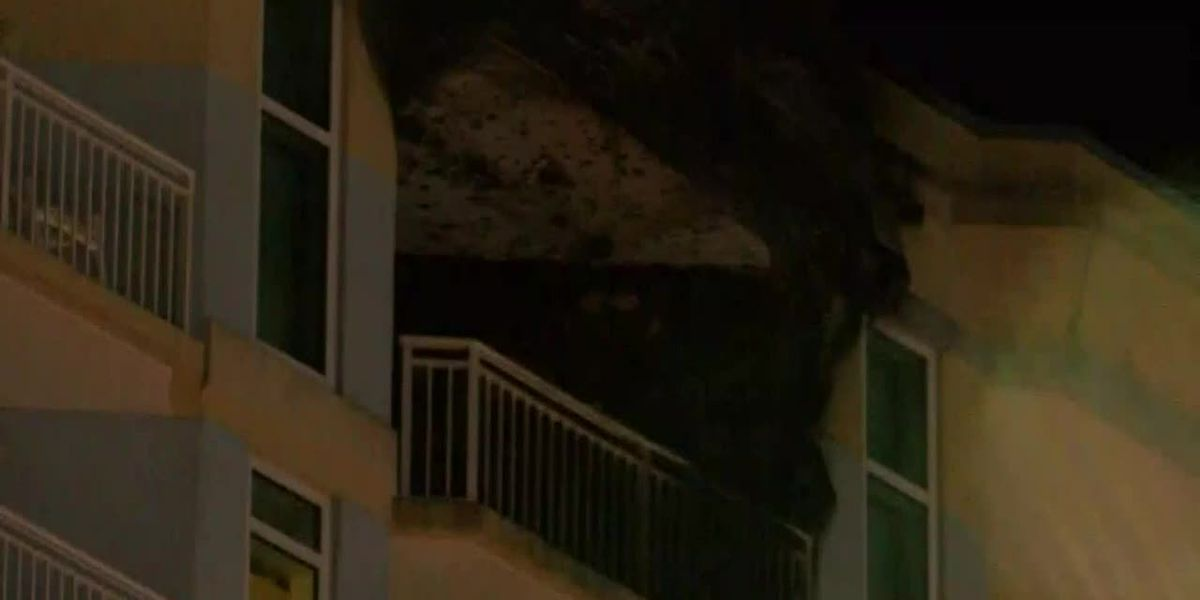 1 hurt in fire at Myrtle Beach hotel