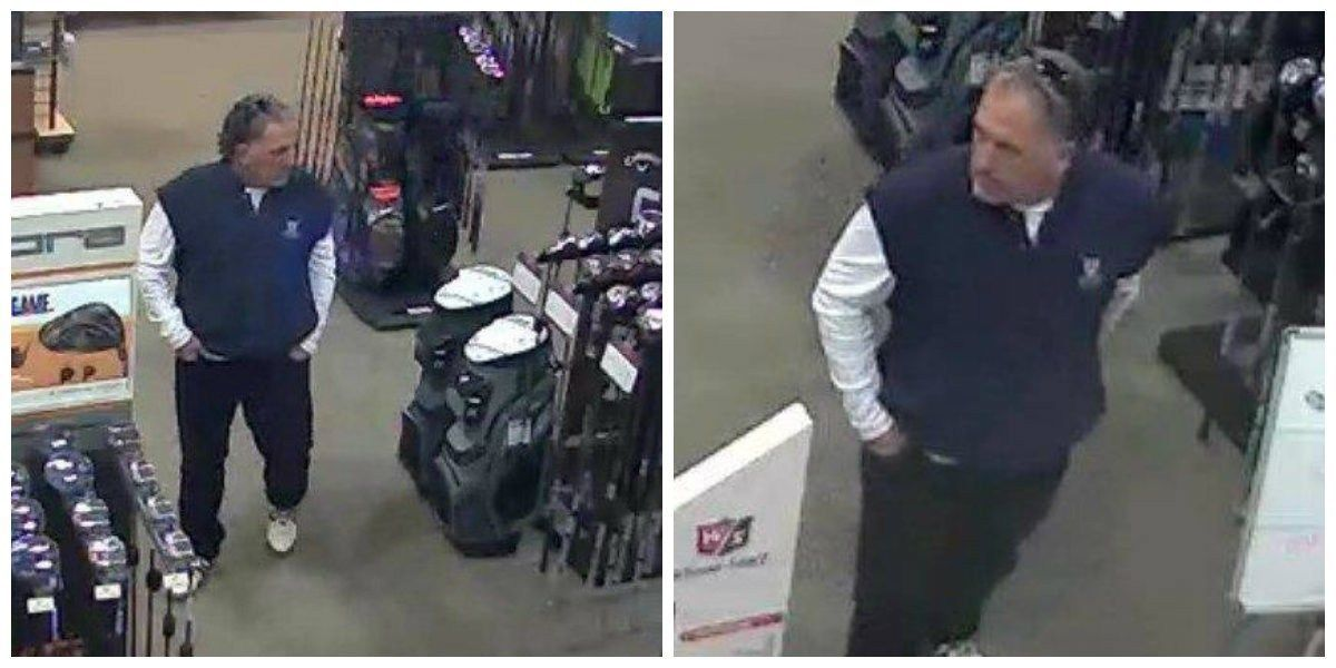 North Myrtle Beach police looking for man who stole golf club heads from sporting goods stores