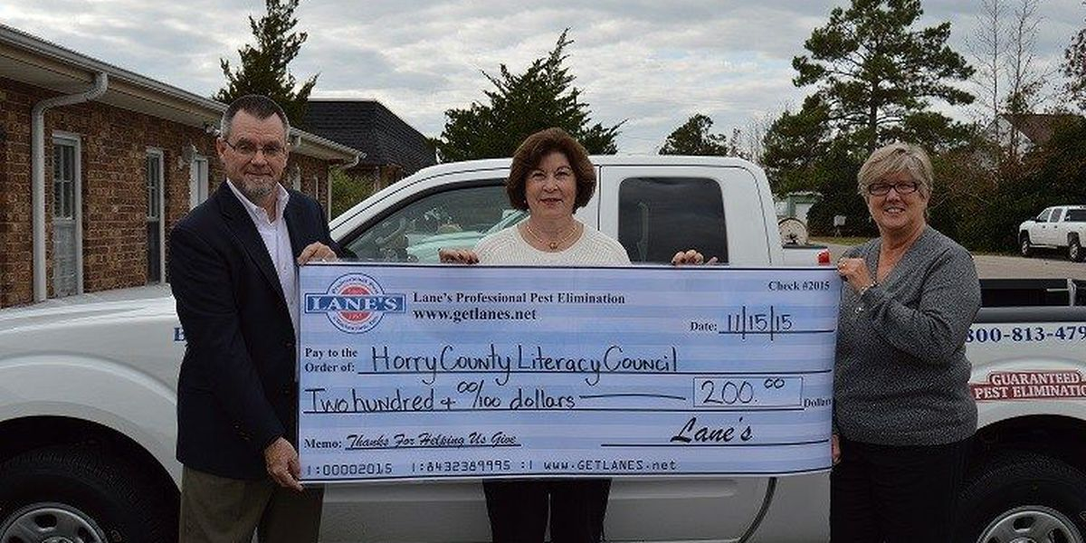 HCLC receives non-profit/charity of the month award