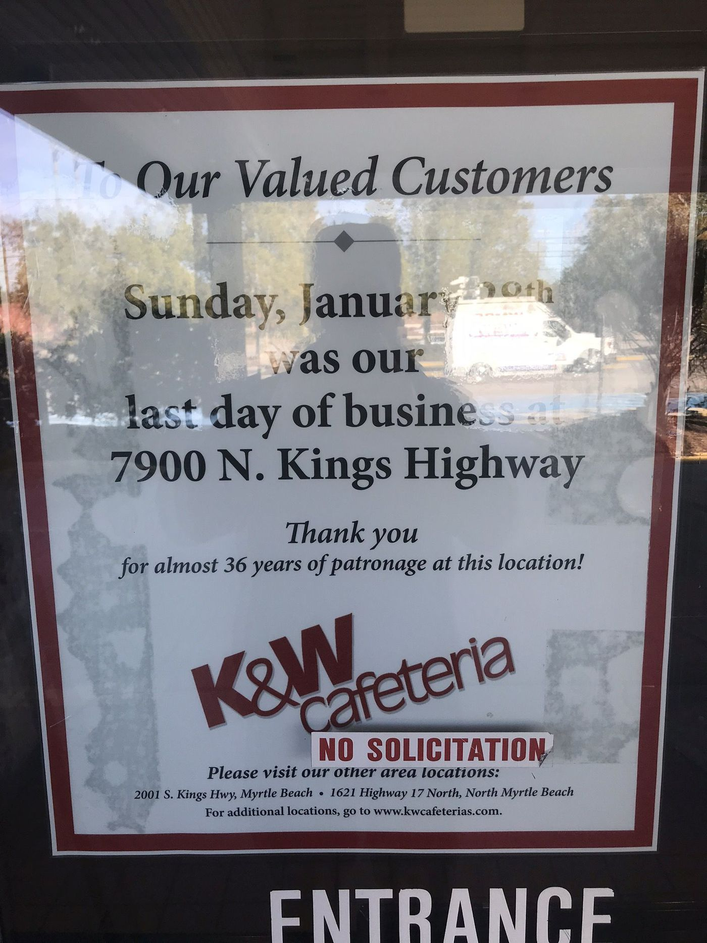K W Cafeteria At 79th Ave North Closes After Nearly 36 Years In