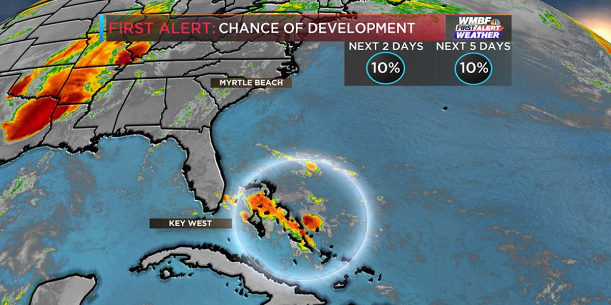 FIRST ALERT: Chance of tropical development near the Bahamas lowers
