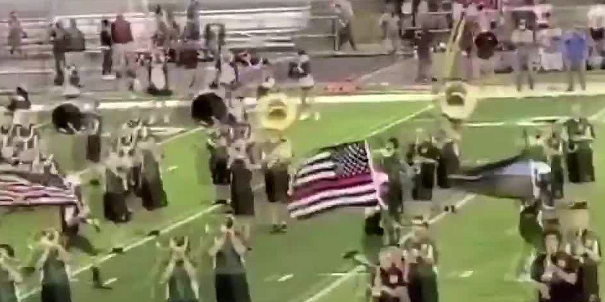 Ohio football players suspended after being told not to carry thin blue line, thin red line flags onto field