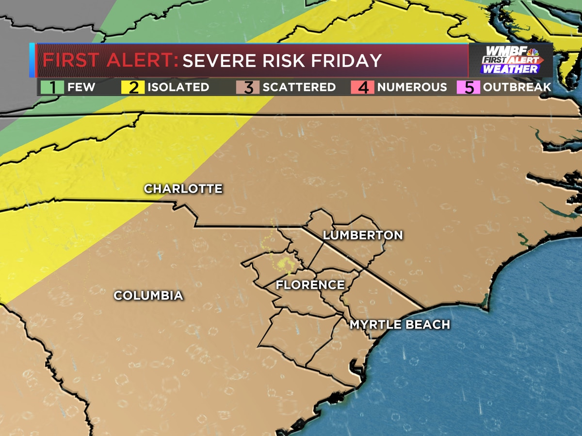 FIRST ALERT: Severe storms expected Friday, damaging winds the main threat