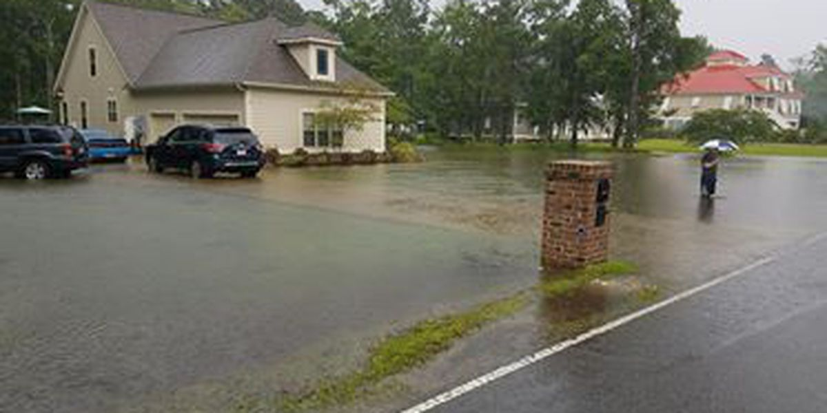 Several Horry Co. roads flooded by heavy rain