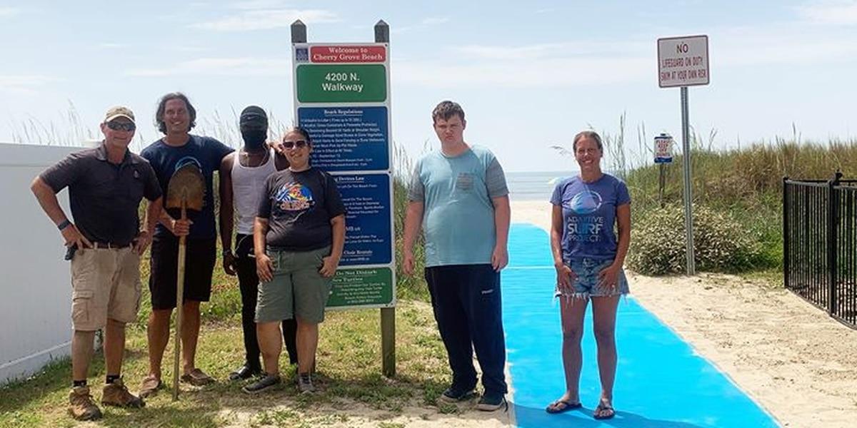 Volunteers help fund, install wheelchair mats at beach accesses in North Myrtle Beach