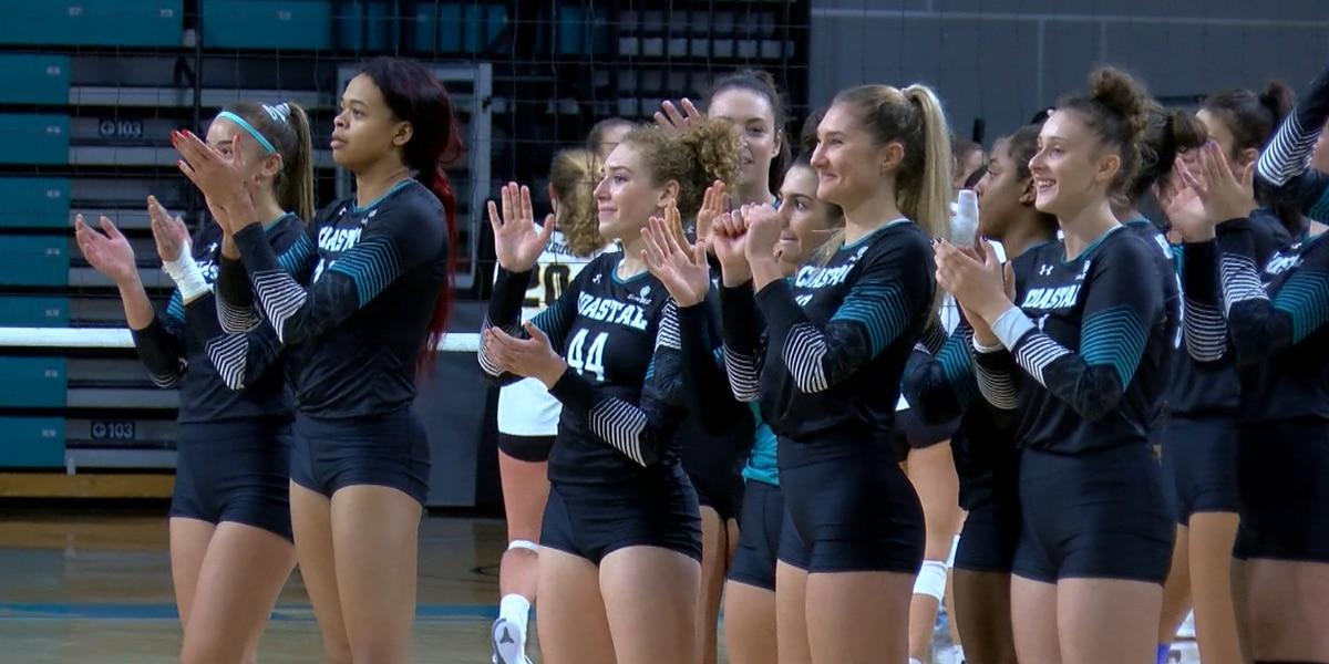No. 15 Coastal Carolina Volleyball sweeps Appalachian State