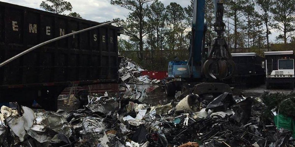 Fire at Myrtle Beach recycling center under investigation
