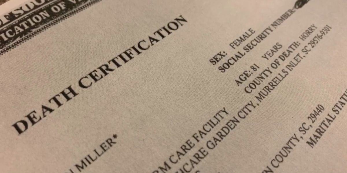 'It's like a slap in the face': Grand Strand family finds COVID-19 mislabeled on mother's death certificate
