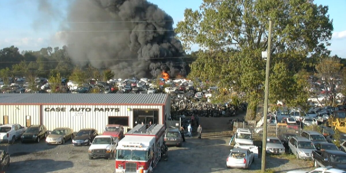 Around 100 cars burned at Marion County used parts shop