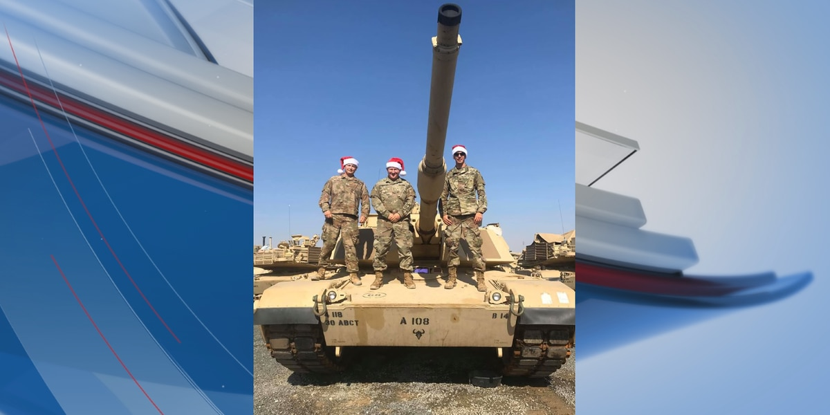 Three Conway employees serving with U.S. Army in Kuwait send holiday greetings