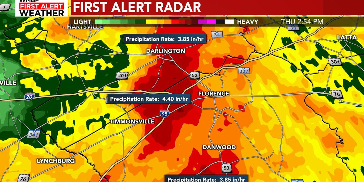 FIRST ALERT: Flash Flood Warnings issued for the Pee Dee