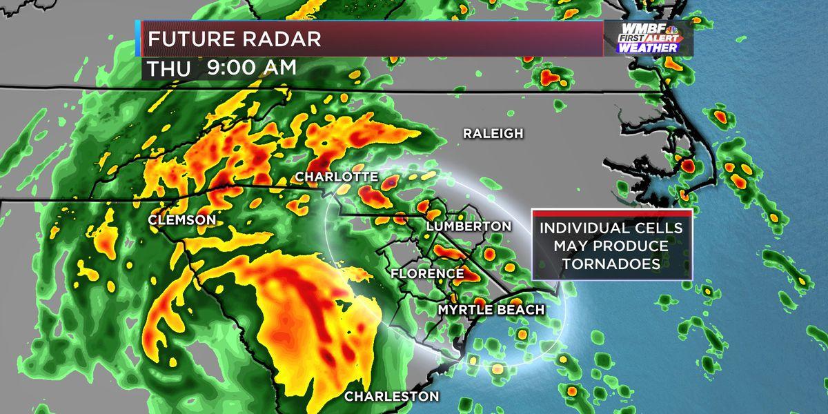 FIRST ALERT: Tornado WATCH issued until 7 am Thursday morning