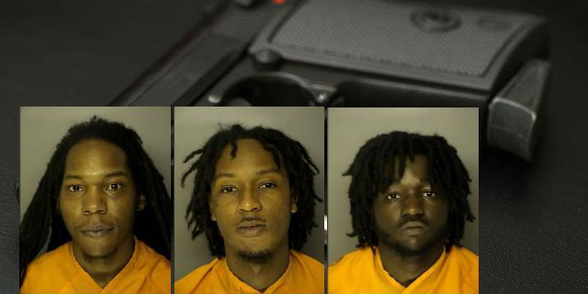 Three men found with stolen guns inside a vehicle in Conway identified, charged