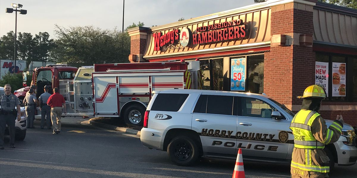 Fire truck backs into Wendy's in Aynor area
