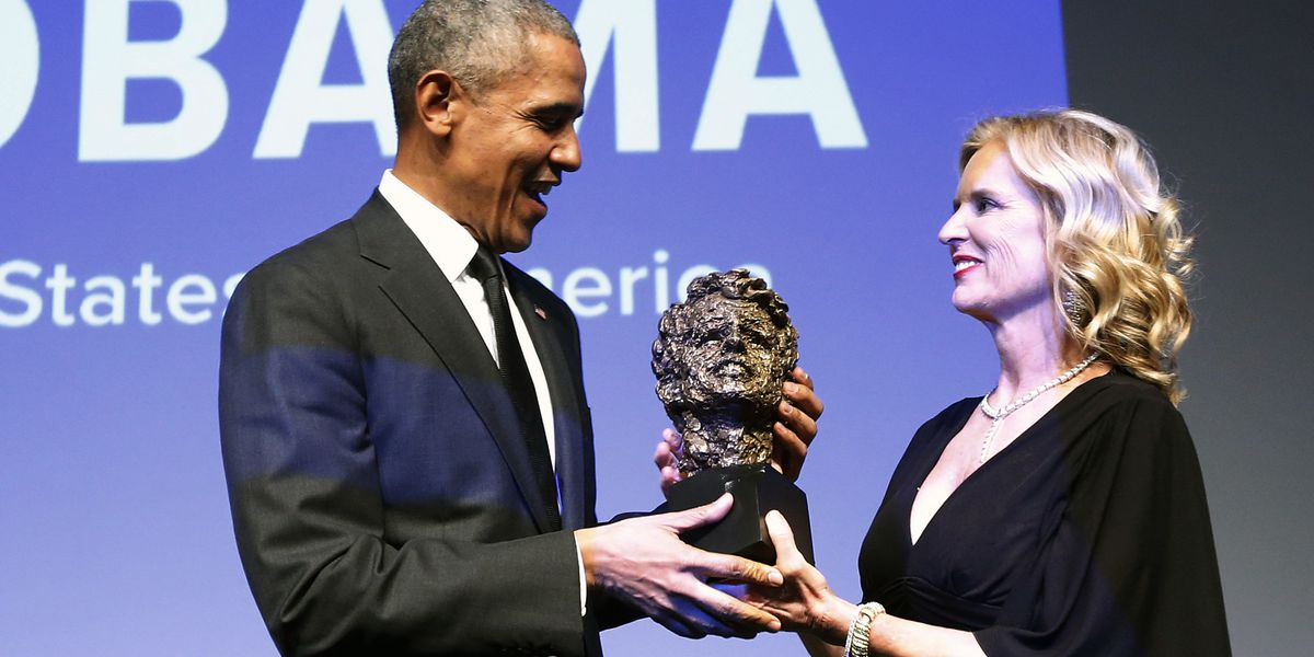 Barack Obama receives RFK Human Rights award at NYC gala