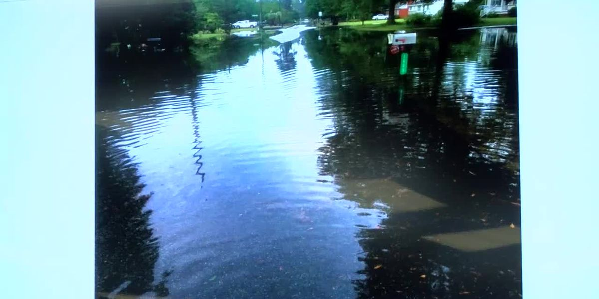 Residents along Florence road discuss flooding concerns with city council