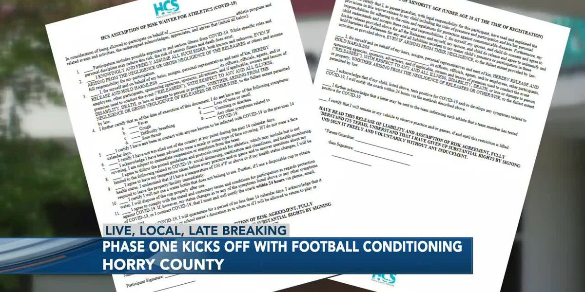 Phase One for high school sports in Horry County kicks off Monday