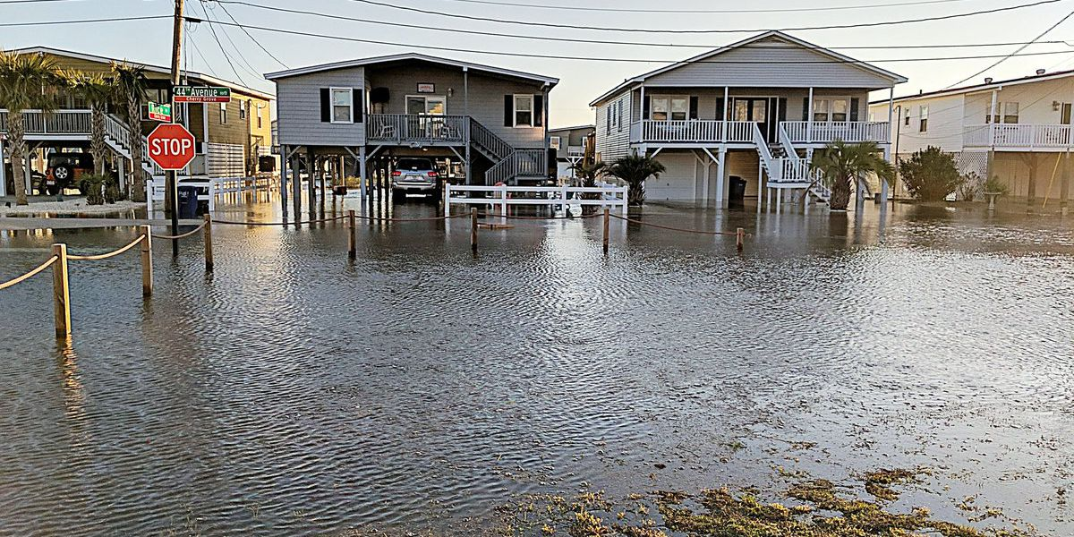 VIDEO: 'Extremely high tide' floods North Myrtle Beach streets for second day in a row