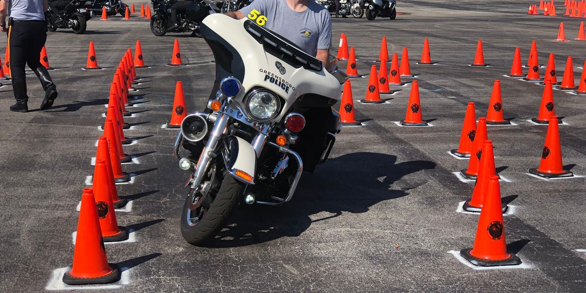 Motorcycle officers learning new skills while raising money for childhood cancer