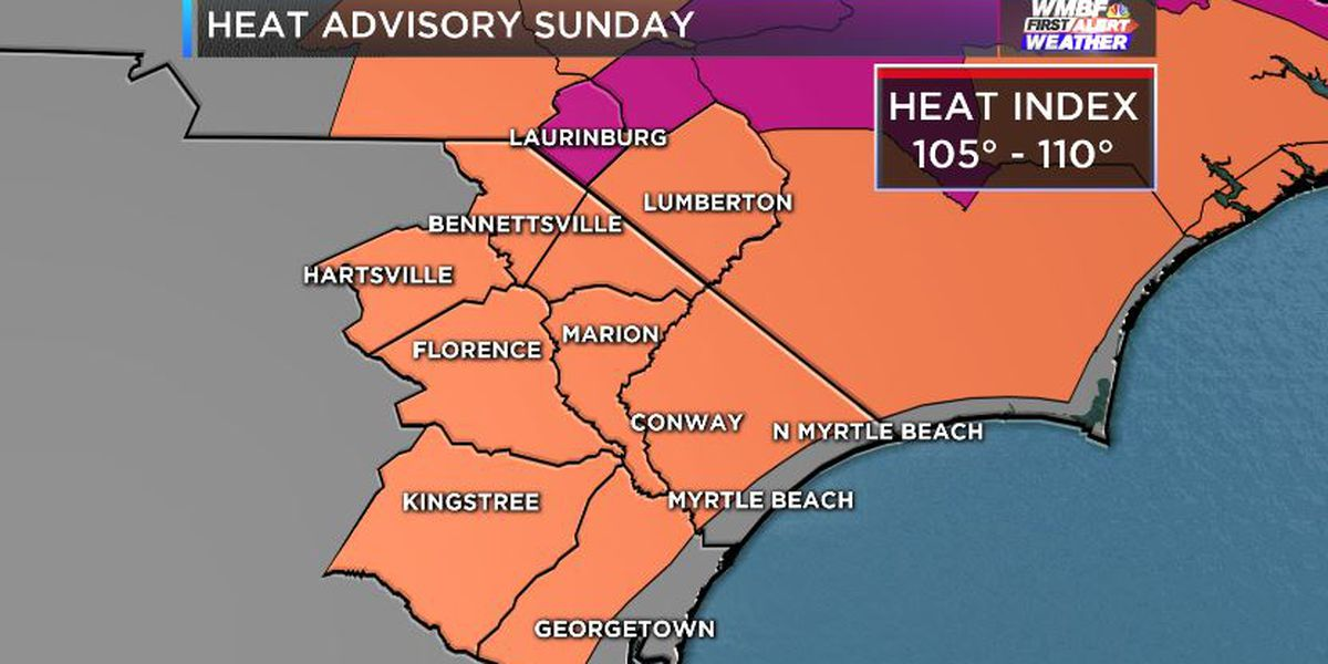 FIRST ALERT: Sunday marks 7th day stretch of heat advisories