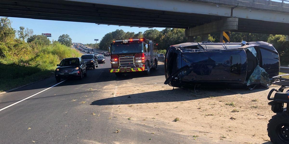 HCFR: 2 taken to hospital after vehicle overturns in Little River