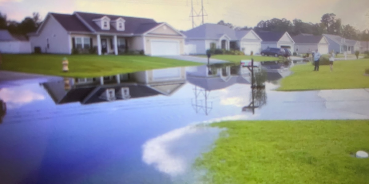 Conway area community deals with flooding following recent rain