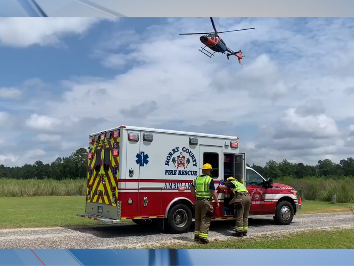 One person injured, airlifted after motorcycle accident in Horry County
