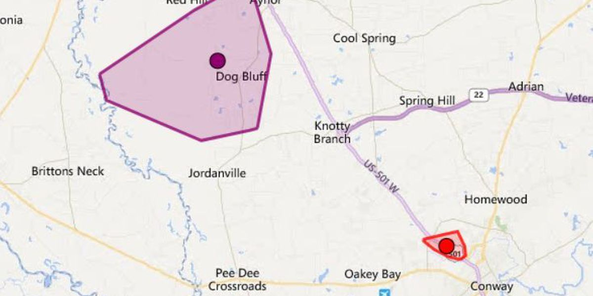 Power pole fire causes outage for 700 Horry Electric customers around Aynor