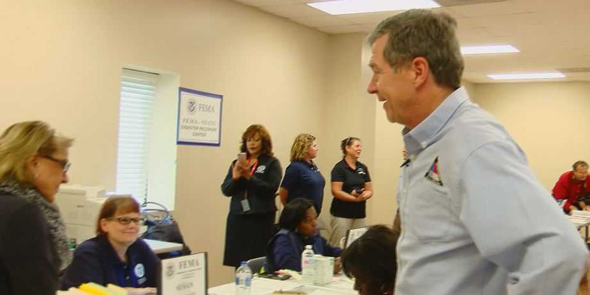 Gov. Cooper visits Robeson County to see relief efforts after Florence