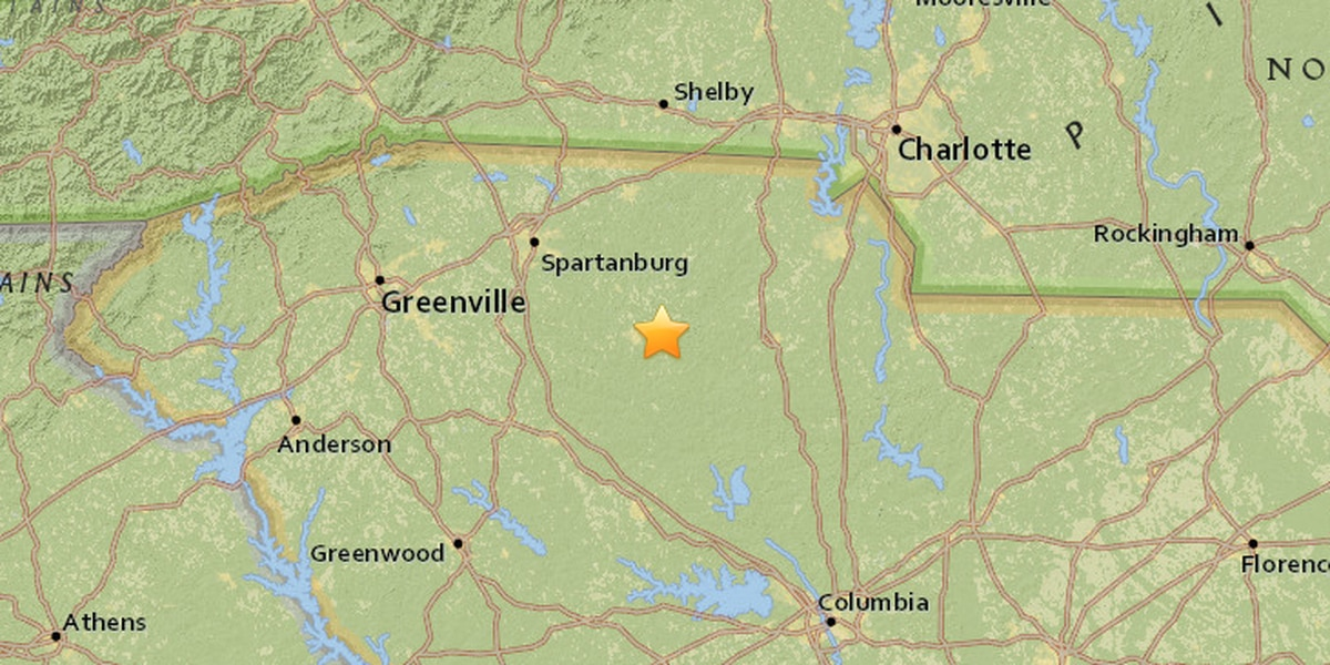 2.3 magnitude earthquake recorded in South Carolina
