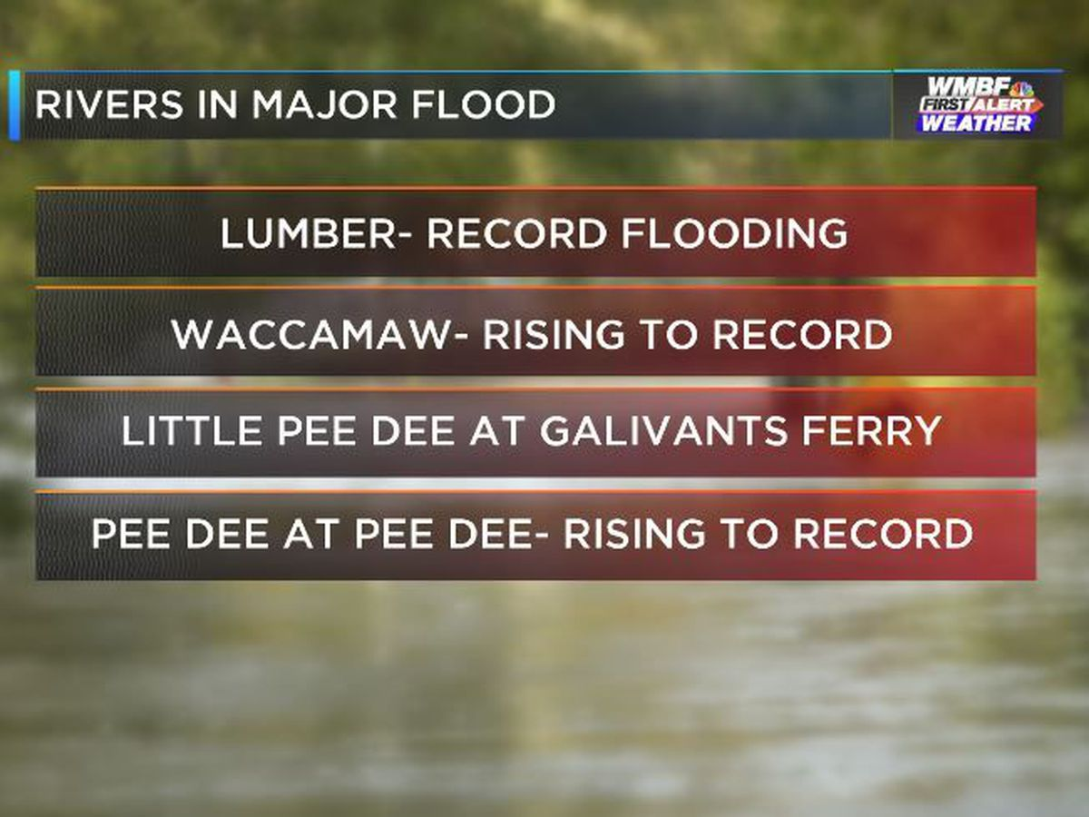 FIRST ALERT: Four area rivers forecast to reach major flood stage, some breaking records