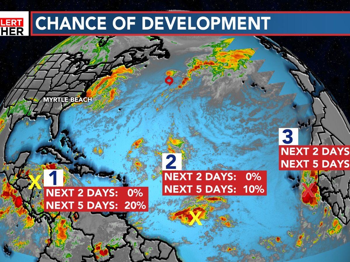 FIRST ALERT: Watching three systems in the tropics, Nestor forming soon?