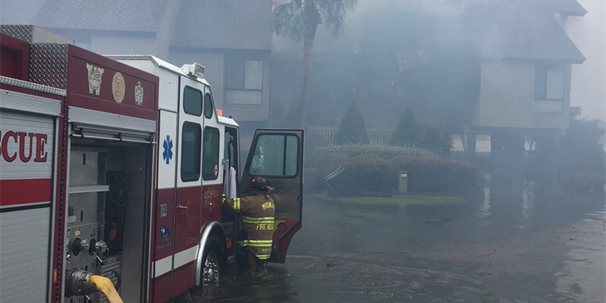 National Guard helps Midway Fire crews to extinguish fire at Litchfield by the Sea