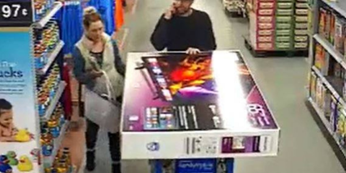 Police: 65-inch TV, cases of beer shoplifted; 2 wanted for questioning