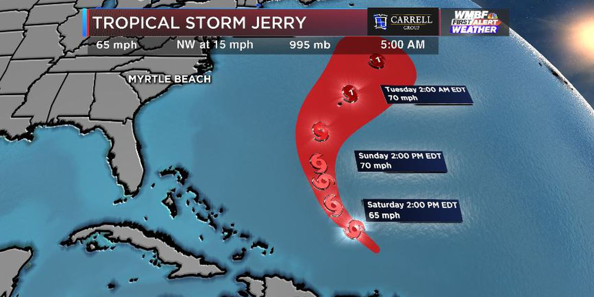 FIRST ALERT: Jerry now a tropical storm, Karen and Lorenzo in the near future?