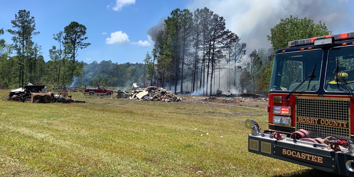 Crews called to brush fire off Enterprise Road in Horry County