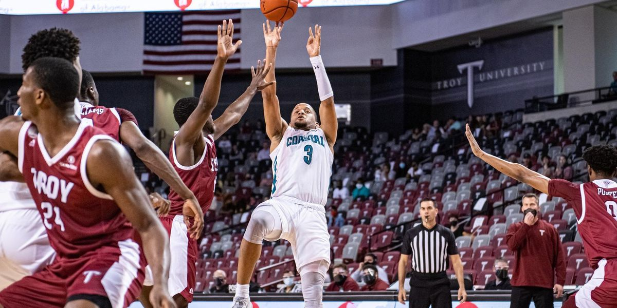 Jones, Green lead CCU men past Troy in Sun Belt Tournament quarterfinals