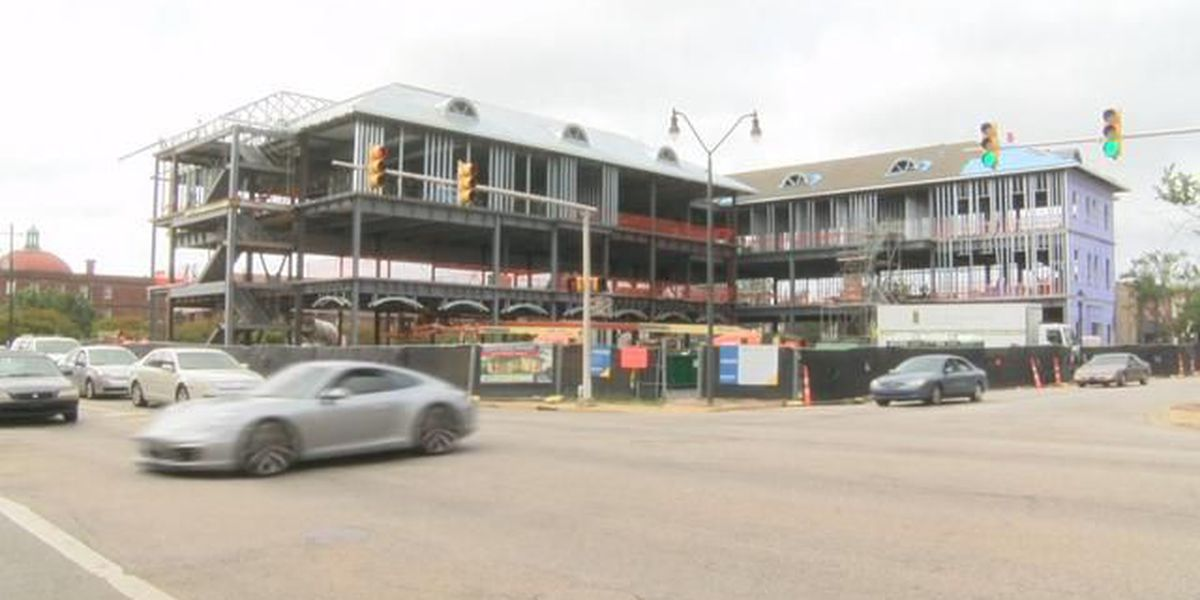 Work continues on construction projects in downtown Florence