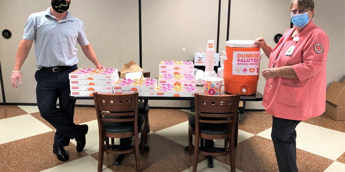 Dunkin' donates coffee, donuts to frontline workers at Grand Strand Medical Center