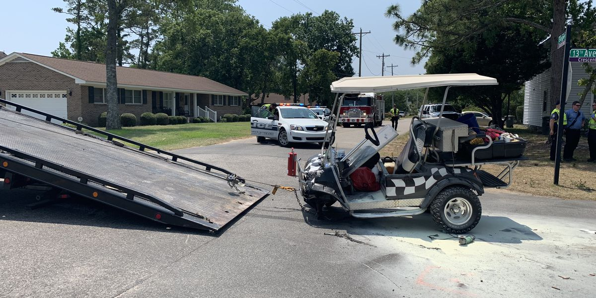 Two injured in vehicle vs. golf cart crash in North Myrtle Beach