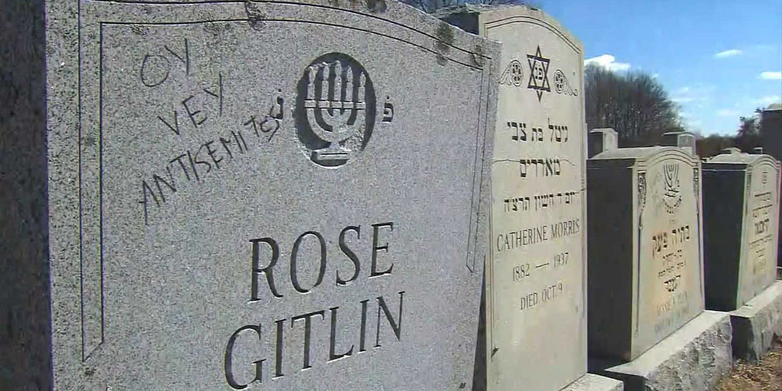 59 graves at Jewish cemetery vandalized with anti-Semitic symbols and language